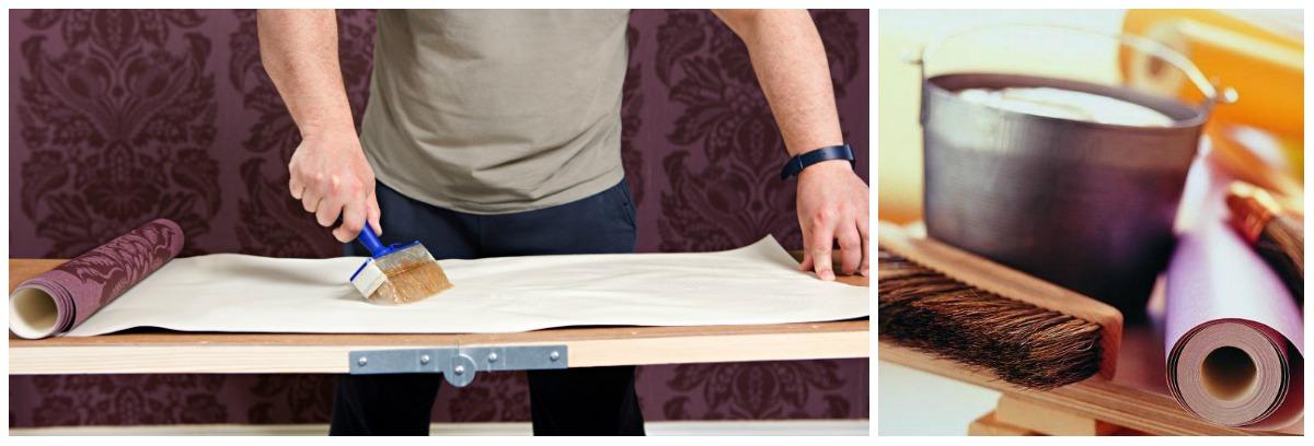 collage6 - Как клеить обои на гипсокартон и подготовить поверхность