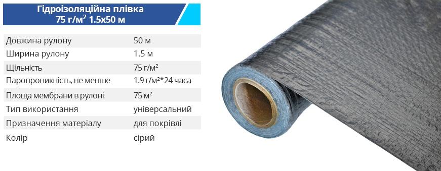 Plenka nearm 30 15 50 grey 1 - Ізоляційна плівка Budmonster