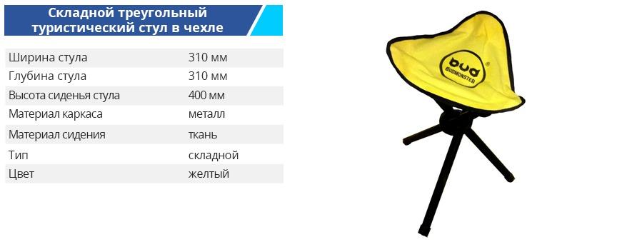 Stul yellow 31 31 40 - Туристическа мебель Budmonster