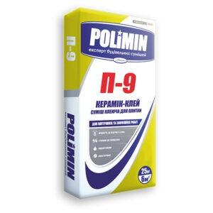 Смесь клеевая для плитки для внутренних работ П-9 25,0кг Polimin